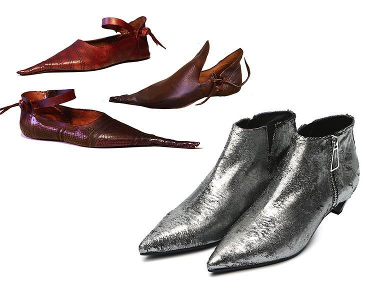 Giày dép thời Trung cổ.