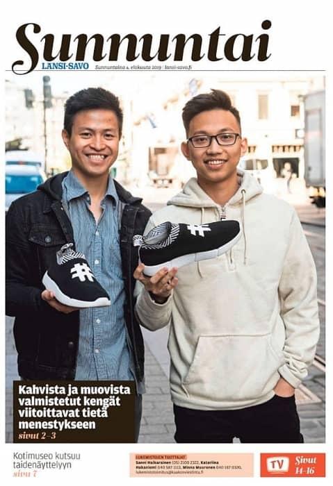 Trần Bảo Khanh và Chu Hoàng Sơn tạo nên thương hiệu giày của riêng mình bên trời Tây.