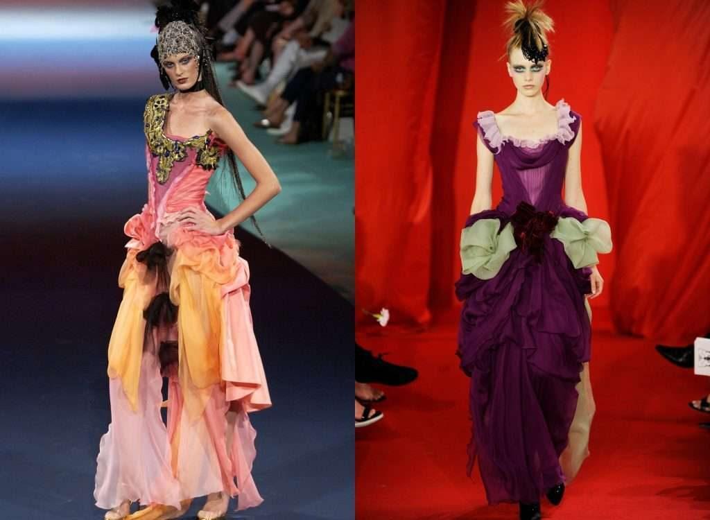 Những bộ trang phục kết hợp độc đáo màu sắc và họa tiết của Lacroix.